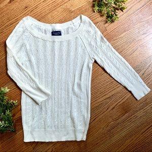 American Eagle | Sweater Open Knit 3/4 Sleeve